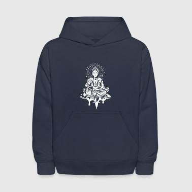 Buddha in the lotus position - White- - Kids' Hoodie