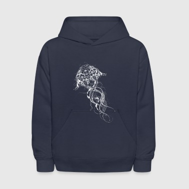 A jellyfish made of ornaments - Kids' Hoodie