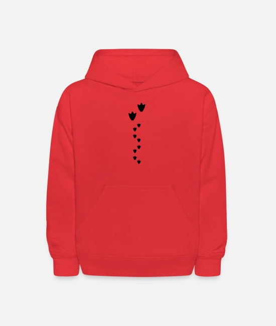 Bird Hoodies & Sweatshirts - duck prints, duck and baby chicks - Kids' Hoodie red