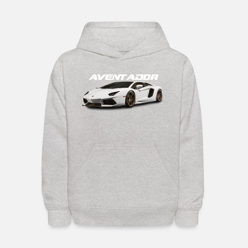 Unisex Clothing Lamborghini Kids Zip-up Hoodie White