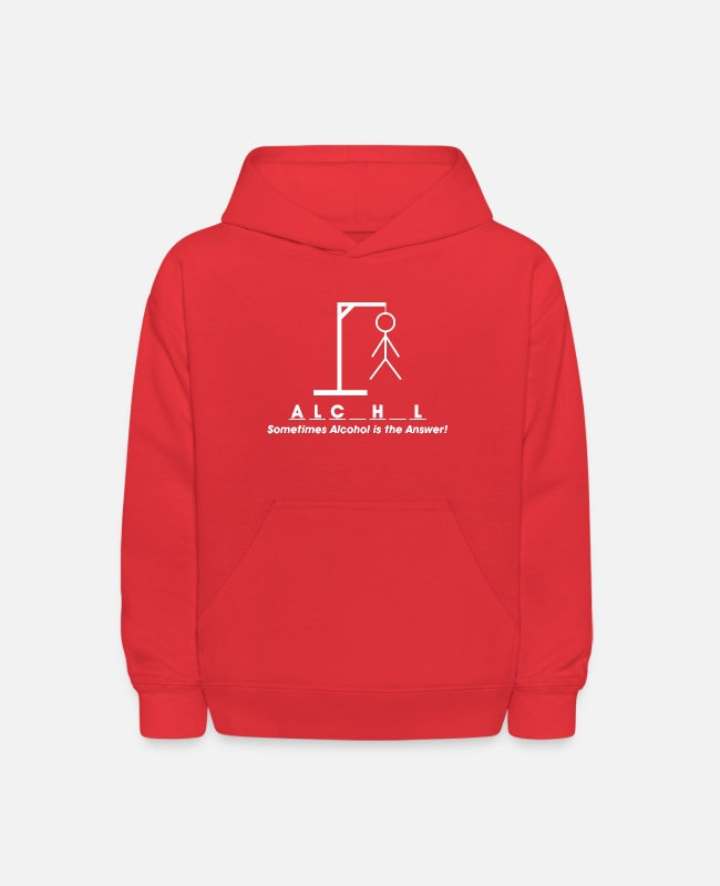 New Years Hoodies & Sweatshirts - SOMETIMES ALCOHOL IS THE ANSWER - Kids' Hoodie red