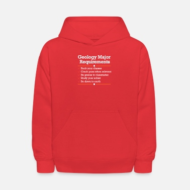 Geology Major Requirements Checklist - Kids' Hoodie