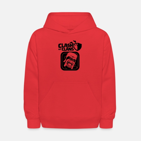 Clash Of Clans Hoodies & Sweatshirts - Barbarian Clash of Clans - Kids' Hoodie red