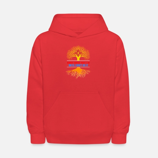 Technician Hoodies & Sweatshirts - Nobody Know What I Do Until I Dont Do It - Kids' Hoodie red