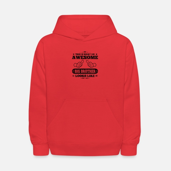 This Hoodies & Sweatshirts - Awesome Big Brother - Kids' Hoodie red