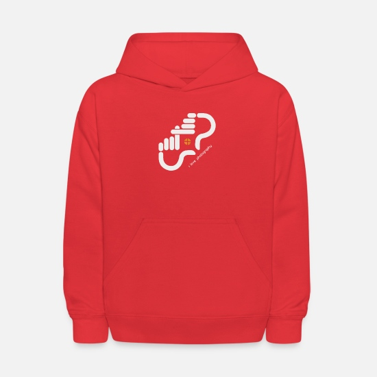 Love Hoodies & Sweatshirts - I LOVE PHOTOGRAPHY - Kids' Hoodie red