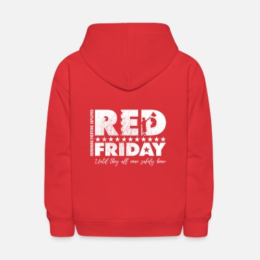 Military RED Friday Flag Wave - Kids' Hoodie