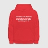 Forgetting not to forget. Funny ADHD quote meme - Kids' Hoodie