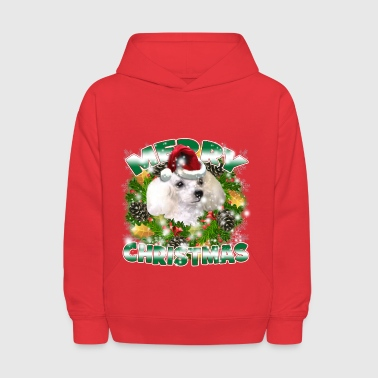 Dog Lover Merry Christmas Poodle - Kids' Hoodie