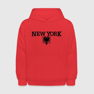 New York Albanian Flag Clothing Apparel Tee - Kids' Hoodie