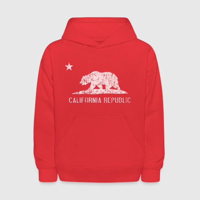 California Republic Flag Distressed - Kids' Hoodie