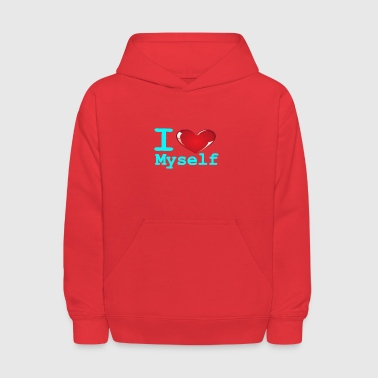 i Love Myself -Cyan- Best Selling Design - Kids' Hoodie