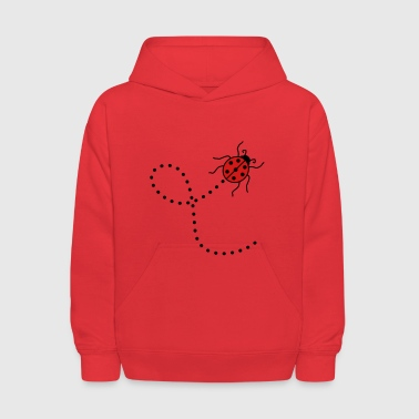 line dashed path way ladybug small sweet cute red - Kids' Hoodie