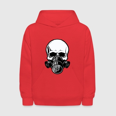 Skull with Gas Mask - Kids' Hoodie
