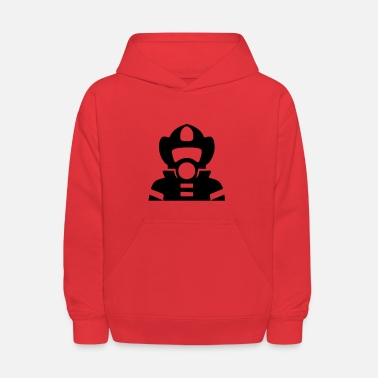 American Icon Firefighter Icon - Kids' Hoodie