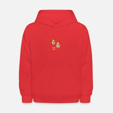 Marshmallow Get Lit Marshmallows With Head on fire - Kids' Hoodie