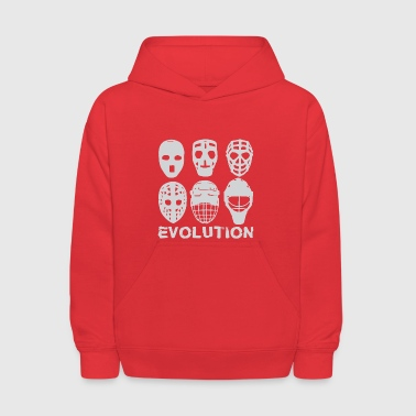 hockey goalie mask evolution - Kids' Hoodie