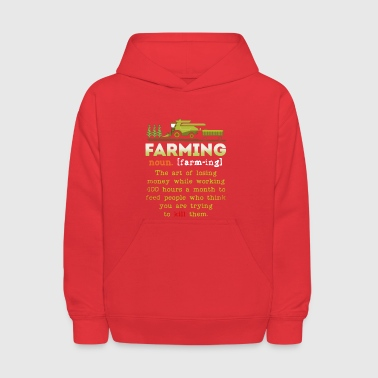 Farming Definition Shirt - Kids' Hoodie