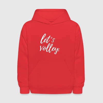 Let's Volley Volleyball Team Design - Kids' Hoodie