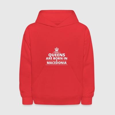 LOVE GESCHENK queens born in MACEDONIA - Kids' Hoodie