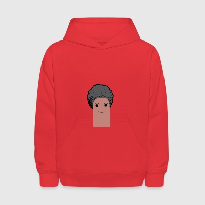 afro finger with beard - Kids' Hoodie
