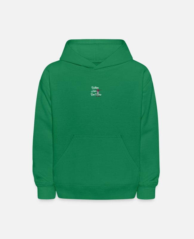 Giant Slalom Hoodies & Sweatshirts - biathlon hair don´t care winter sports - Kids' Hoodie kelly green