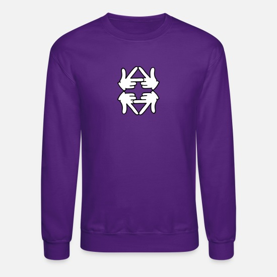 Mirror Hoodies & Sweatshirts - Logo reflection - Unisex Crewneck Sweatshirt purple
