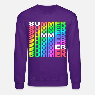 Summer Colors Summer Summer rainbow colors summer gift - Unisex Crewneck Sweatshirt