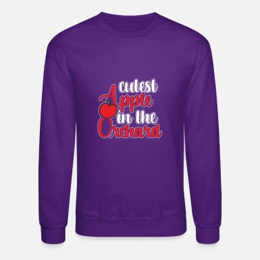 Sweetest Apple in The Orchard Cute Youth Fleece Crewneck Sweater