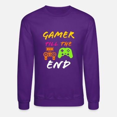 Pwnd Gamer till the end funny gaming - Unisex Crewneck Sweatshirt