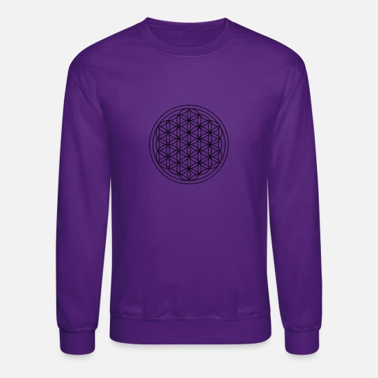 Flower Hoodies & Sweatshirts - flower of life - Unisex Crewneck Sweatshirt purple