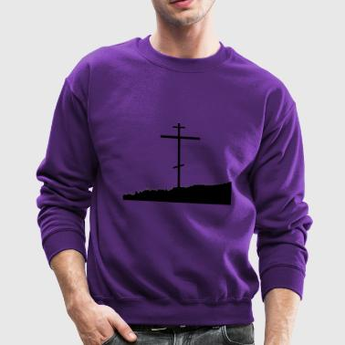 Orthodox cross christianity nature skyline - Crewneck Sweatshirt