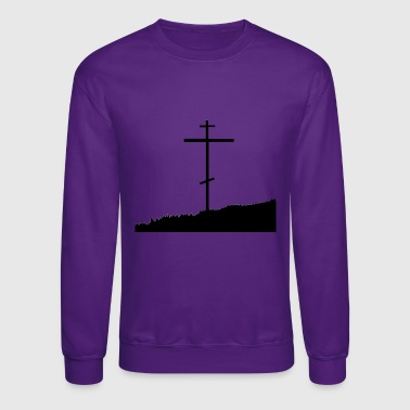 Orthodox Orthodox cross christianity nature skyline - Crewneck Sweatshirt