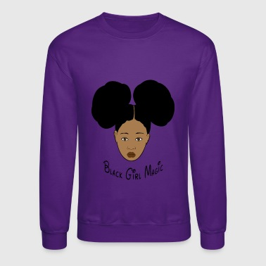 Black Girl Magic Afro Puffs - Crewneck Sweatshirt