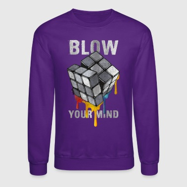 Rubik's Cube Blow Your Mind - Crewneck Sweatshirt