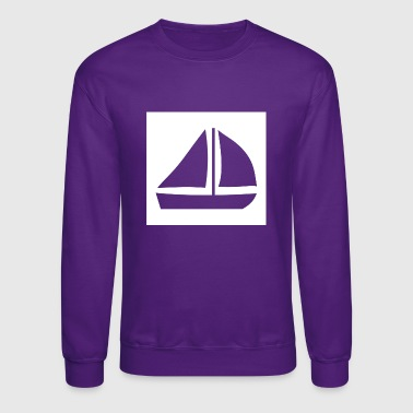Sail Boat with two sails - Crewneck Sweatshirt