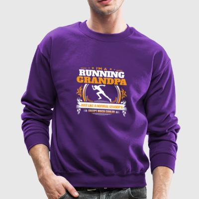 Running Grandpa Shirt Gift Idea - Crewneck Sweatshirt