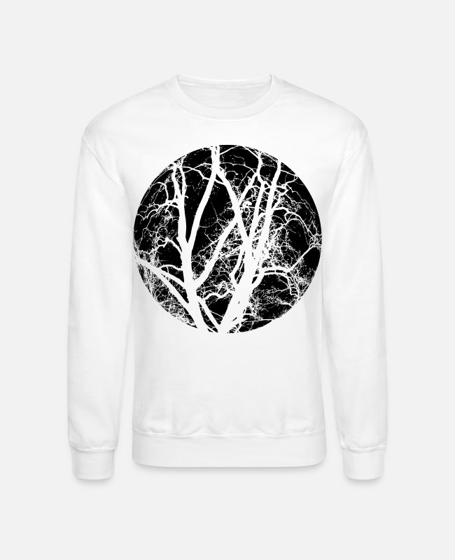 AST Hoodies & Sweatshirts - Trees branches - Unisex Crewneck Sweatshirt white