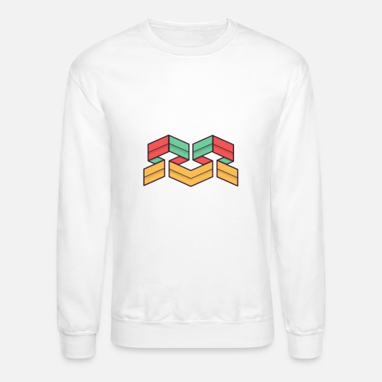 Symbol  Hoodies & Sweatshirts - Lego Abstract Geometrie - Unisex Crewneck Sweatshirt white