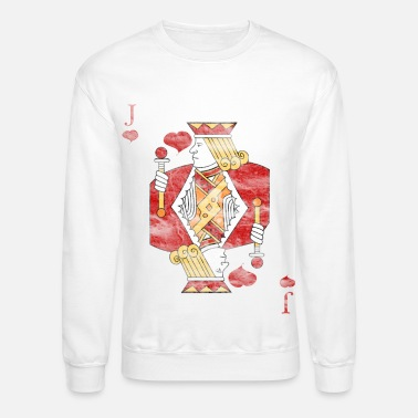 Cards Poker Card Jack heart - Unisex Crewneck Sweatshirt