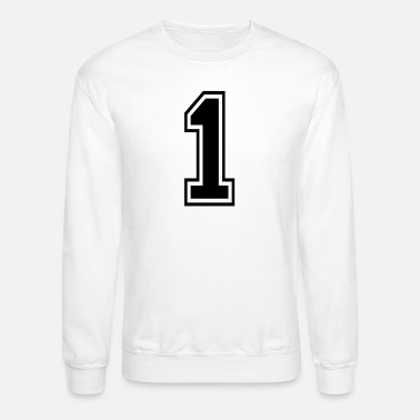 College Number 1 one college style counting gift - Unisex Crewneck Sweatshirt