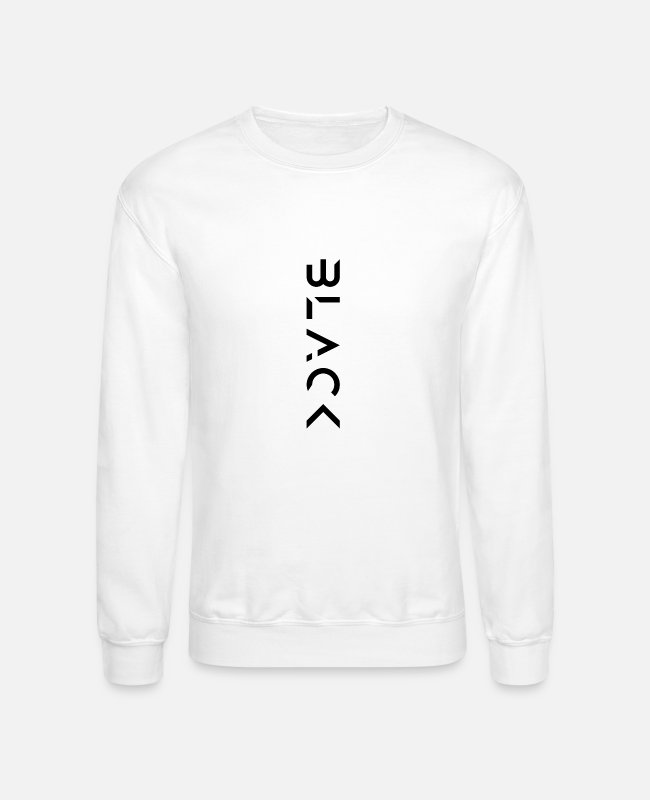Vertical Hoodies & Sweatshirts - Futuristic Vertical Black - Unisex Crewneck Sweatshirt white