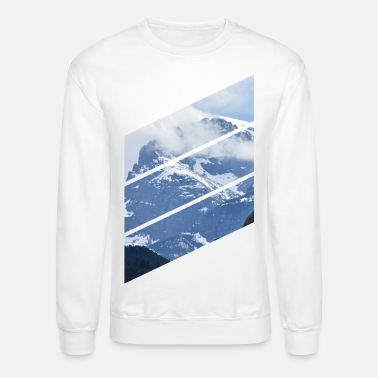 Diagonal Mountain Diagonals - Unisex Crewneck Sweatshirt