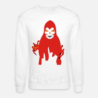 Facet &amp Scary Face Halloween Ghost - Unisex Crewneck Sweatshirt