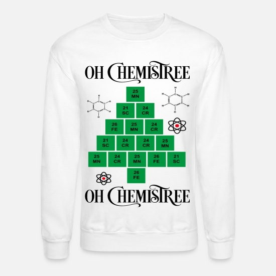 Christmas Hoodies & Sweatshirts - chemistree - Unisex Crewneck Sweatshirt white