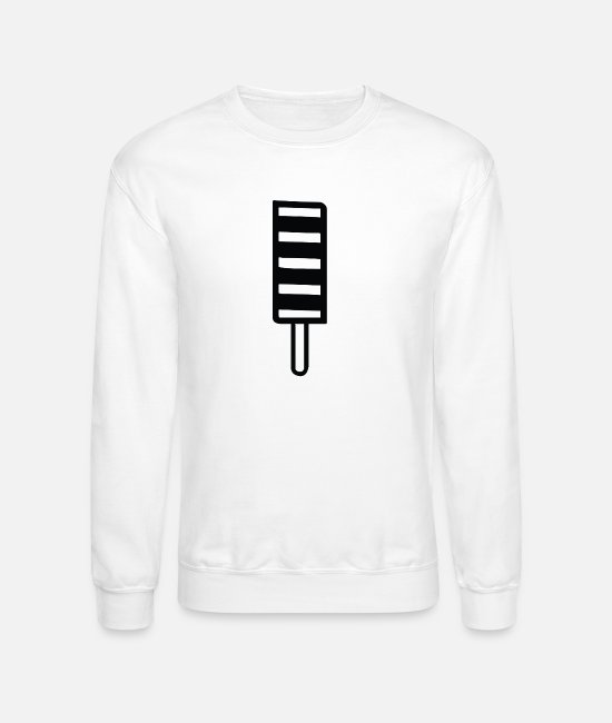 Chocolate Sauce Hoodies & Sweatshirts - Ice cream and icecream symbol - Unisex Crewneck Sweatshirt white