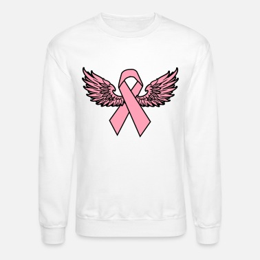 Winged Breast Cancer Awareness Ribbon Women's - Unisex Crewneck Sweatshirt