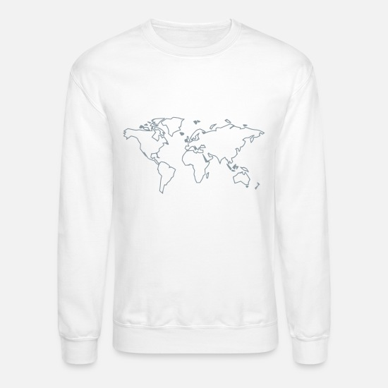 Country Hoodies & Sweatshirts - World - Unisex Crewneck Sweatshirt white