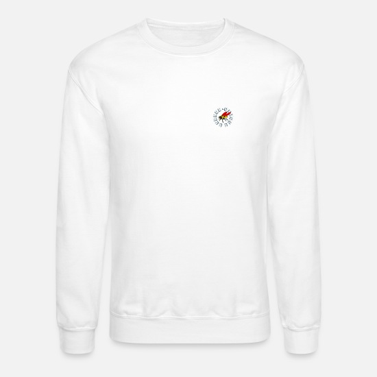 Beeeee Hoodies & Sweatshirts - beeeee-unique - Unisex Crewneck Sweatshirt white