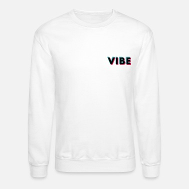 Graffiti Vibe Glitch Black Small Logo - Unisex Crewneck Sweatshirt